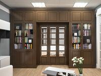 Библиотека серии МОЦАРТ со складной перегородкой внутри  из массива дерева с фрезеровкой