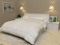 Кровать серии Классика из эмалевого МДФ с фрезеровкой