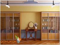 Трехдверная Библиотека шириной 1774 мм