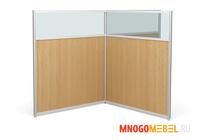 Комплект офисных перегородок комбинированных ЛМК 164/140